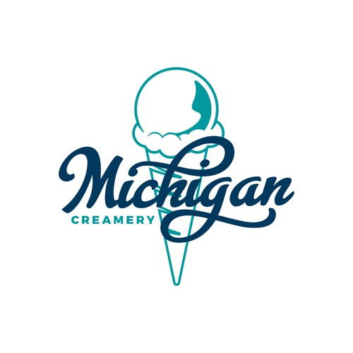 Logo for Michigan Creamery, ice cream parlor in Ann Arbor, Michigan.