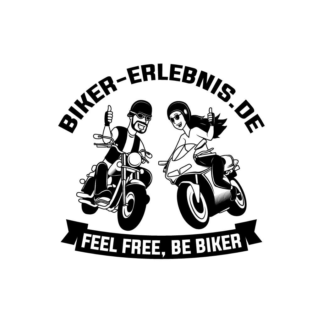 Biker-Logo das Biker aller KLassen anspricht, freundlich, dynamisch, frisch