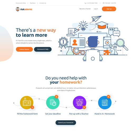 Modern Online Tutoring Service