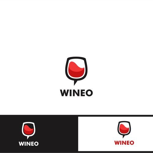 Create a fun and professional logo for Wineo