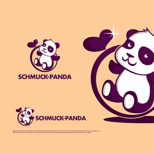 Cute Panda Logo Design
