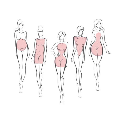 5 body illustrations for personal blog