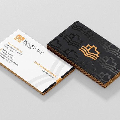 Business Card Design for REALSCHULE