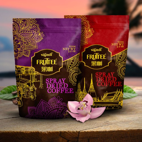 Packaging for wonderful Thai Coffee