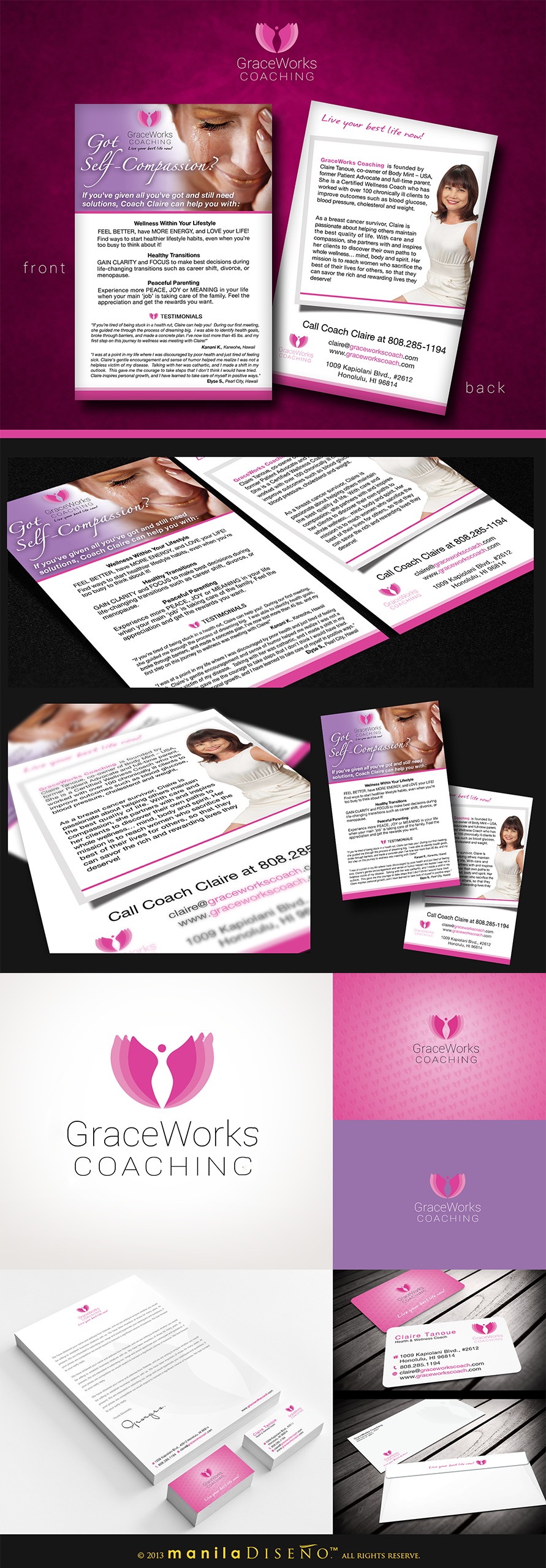 *Prize Guaranteed* Show your feminine side -- design GraceWorks Coaching launch collateral!