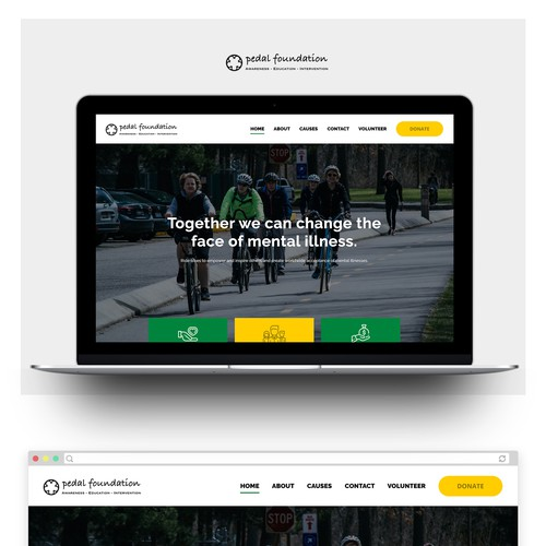 Web design for a Charity Startup