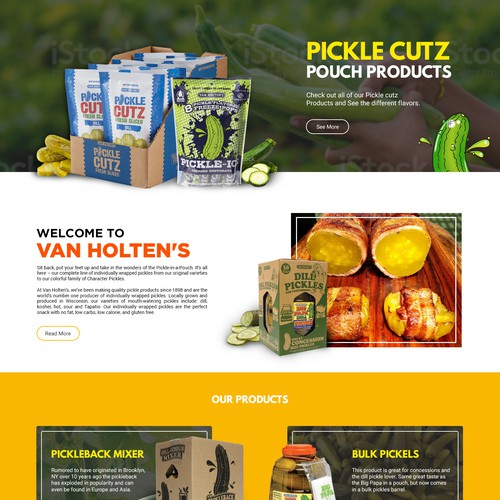 Website redesign for the ultimate snack - pickles!