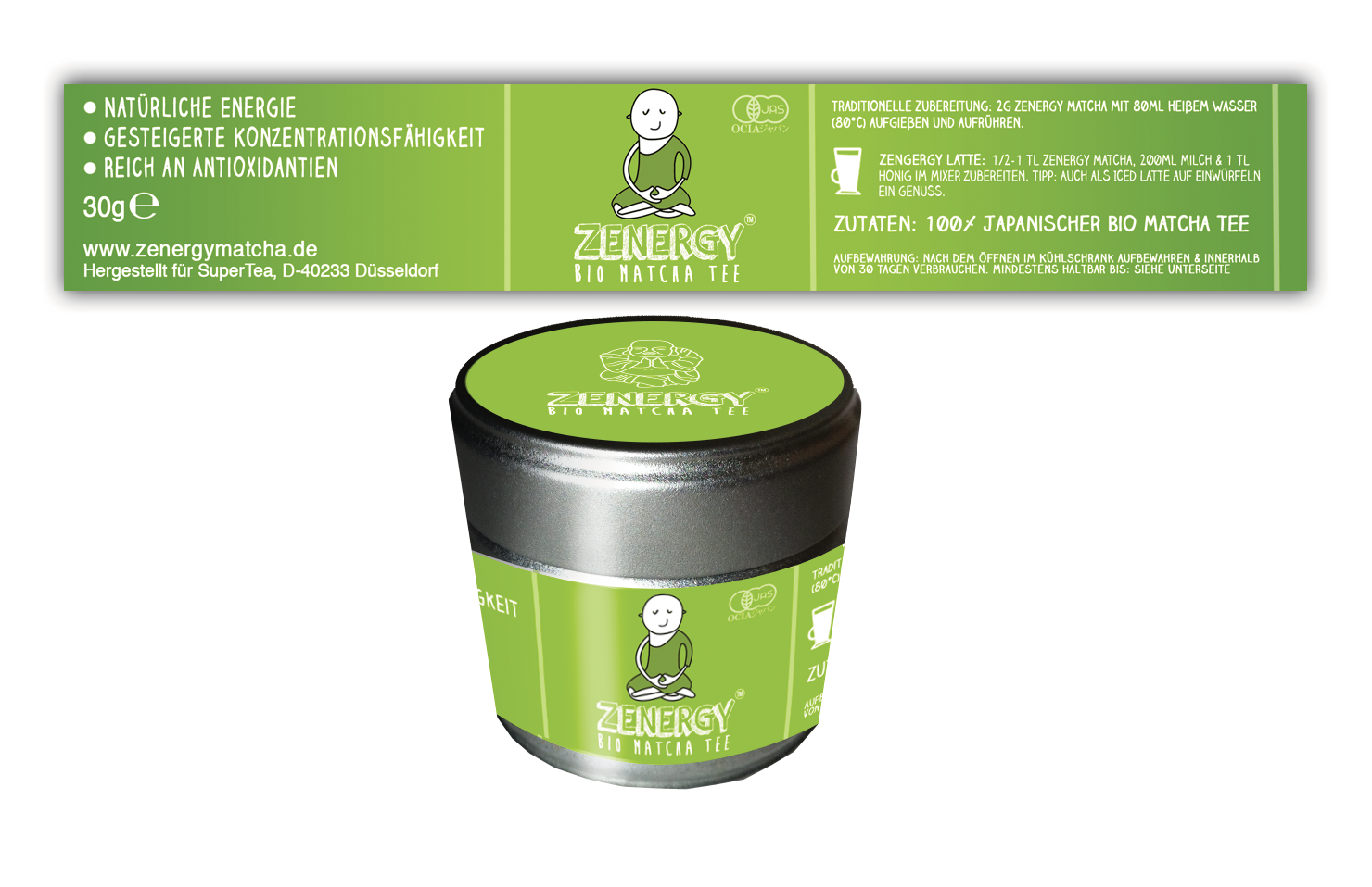 Create Product Label for Zenergy Matcha