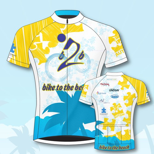 Bike to the beach Jersey design