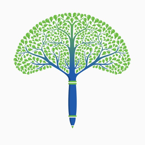 Pen Tree Illustration