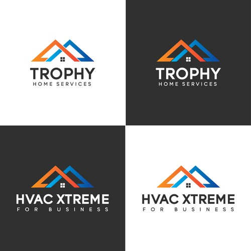 Logo concept for TROPHY HOME SERVICES