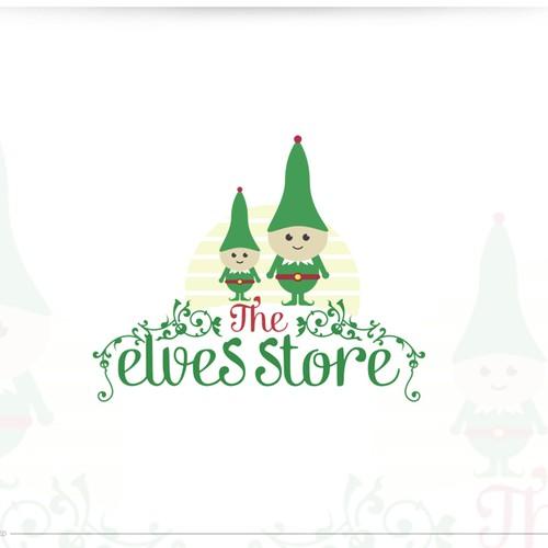 Create a wonderful logo for online website selling Christmas Elves
