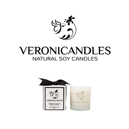 Create an elegant and luxurous logo for our scented candle business!