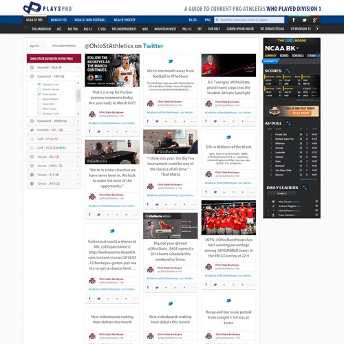 Design an engaging site with a unique, in-demand concept for sports fans!