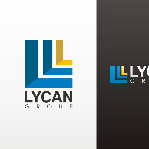 logo and business card design for Lycan Group