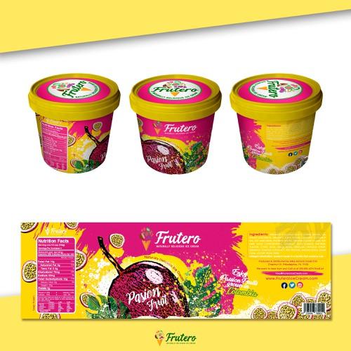 """Ice crean label """"Frutero"""""""