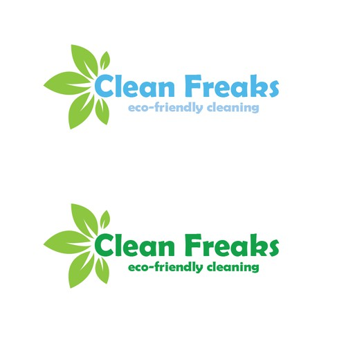 Creative Fun Logo for CLEAN FREAKS an eco-friendly cleaning service!