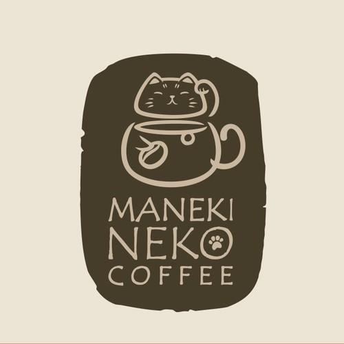 Logo for a ManekiNeko themed cafe