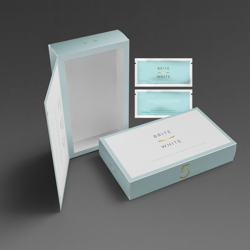 Simple packaging for teeth whitening strips