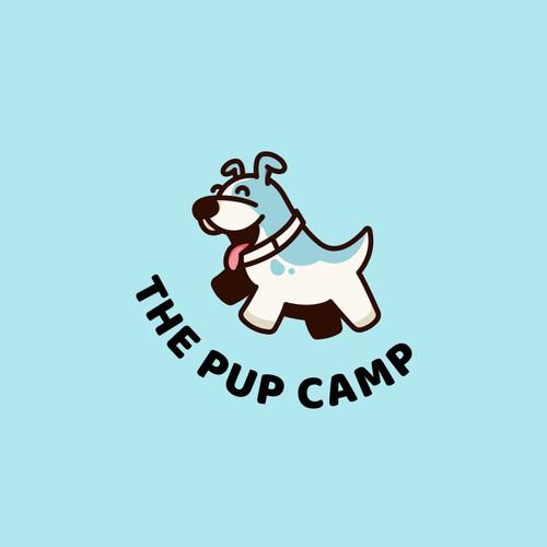 Fun logo for a puppy camp