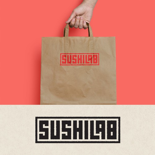 Typographic logo for Sushi Lab