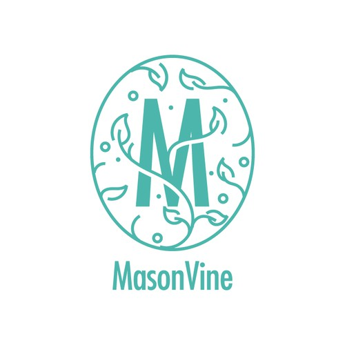 M + Vine Logo Design (Unused)