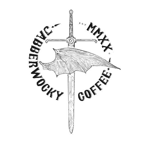 jabberwocky coffe logo concept