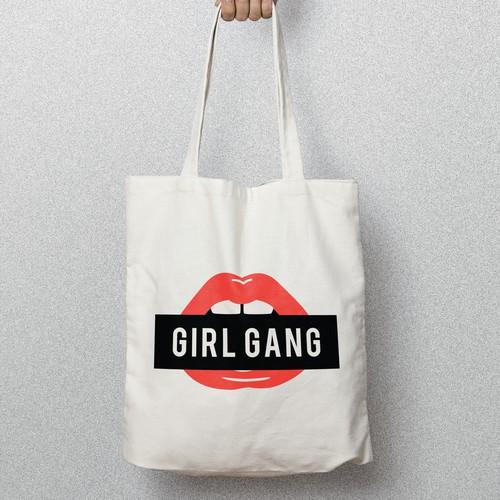 GIRL GANG TOTE BAG DESIGN