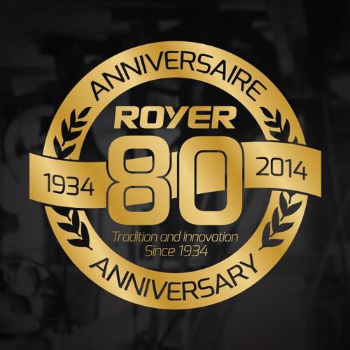 Royer 80th anniversary logo