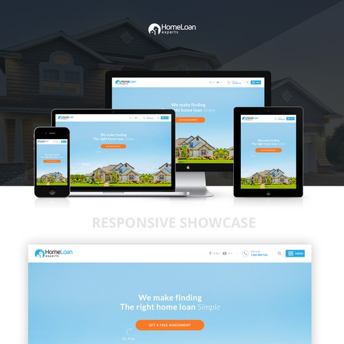 Responsive website concept - Home page -