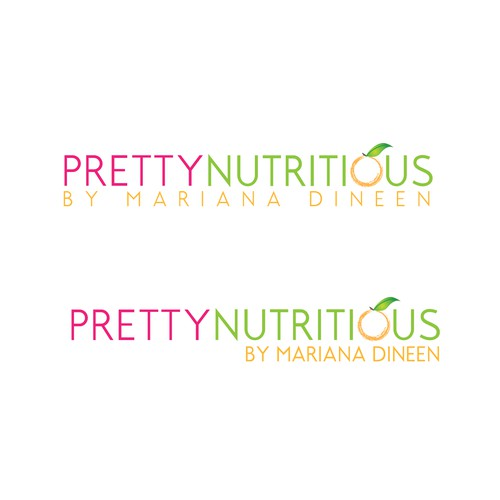 Create the next logo for Pretty Nutritious by Mariana Dineen