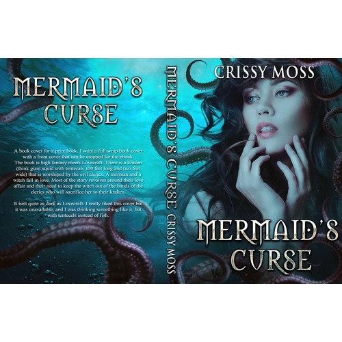 Fantasy Book cover that flirts with Lovecraftian horror