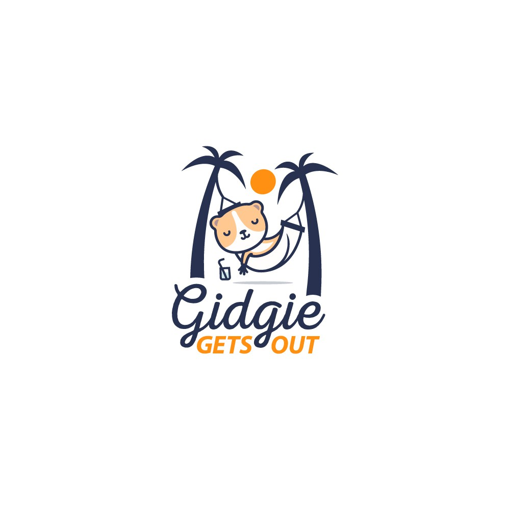 Gidgie Gets Out - Design fun logo for reusable shopping bags brand