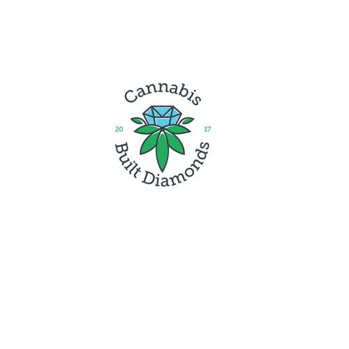 Logo Design for Cannabis Built Diamonds