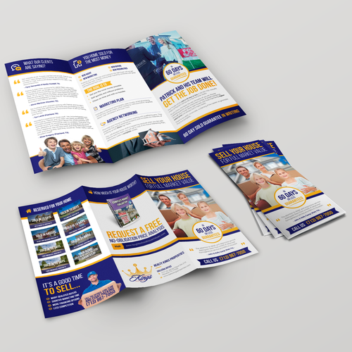 Trifold Brochure for Realty Kings Properties