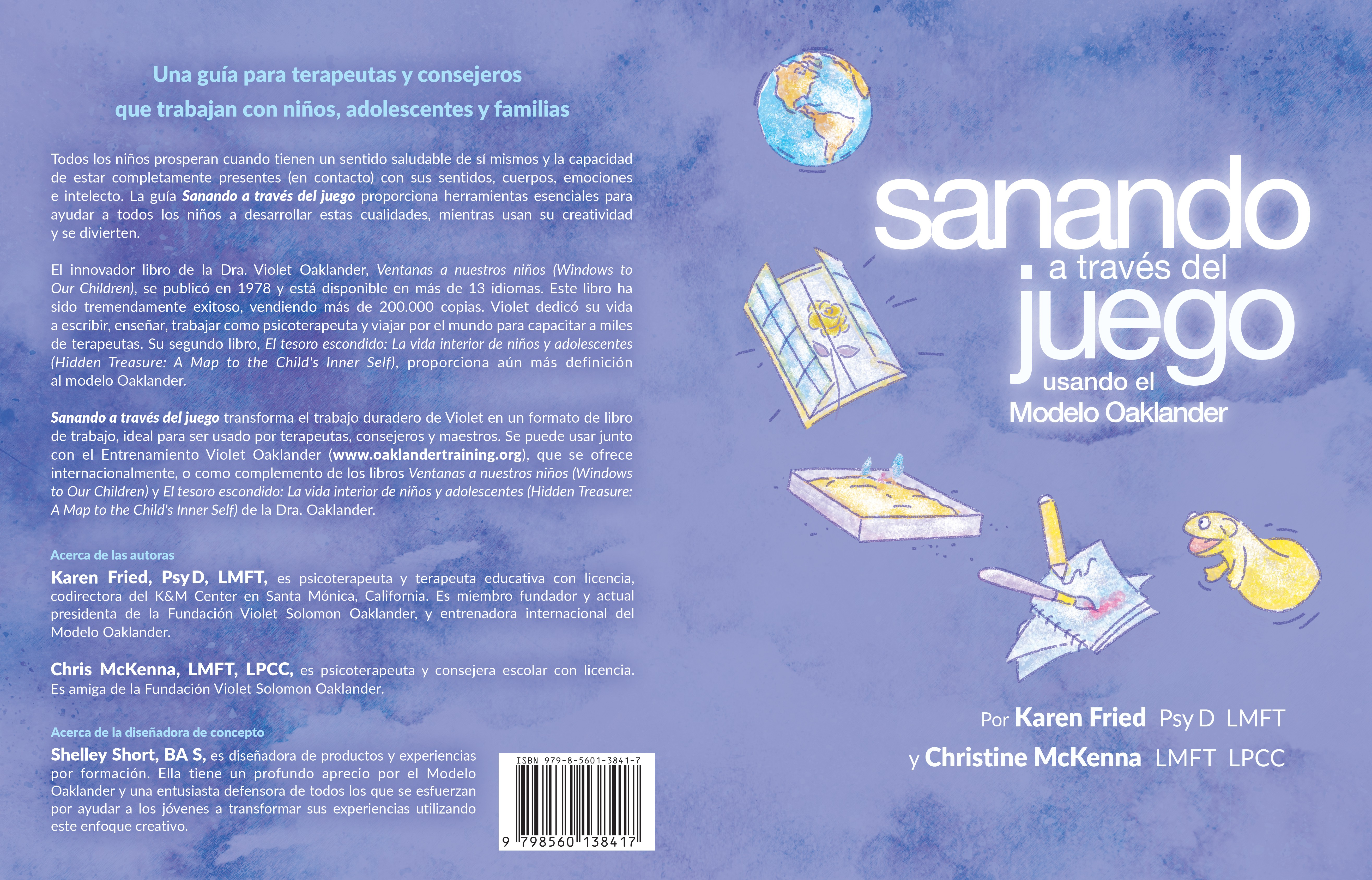 book cover for a workbook on child therapy - Spanish version