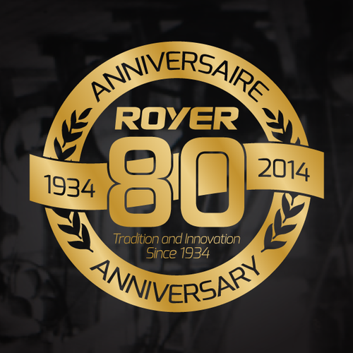 Royer 80th anniversary logo