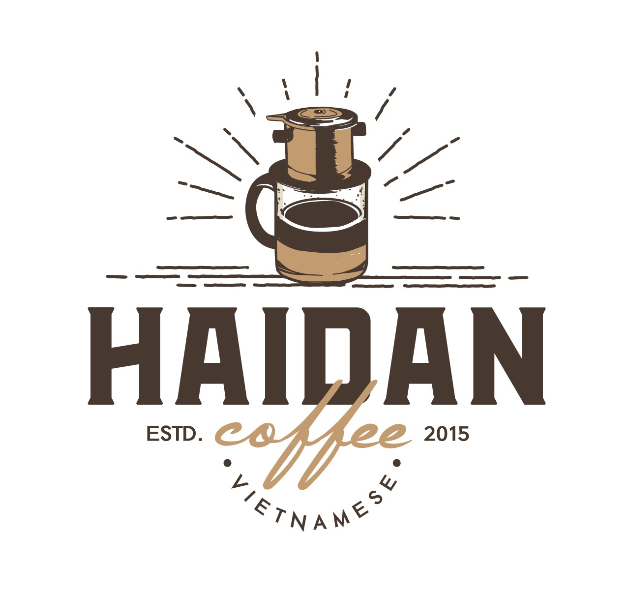 Create a classic bold style logo for a Vietnamese Coffee import company!