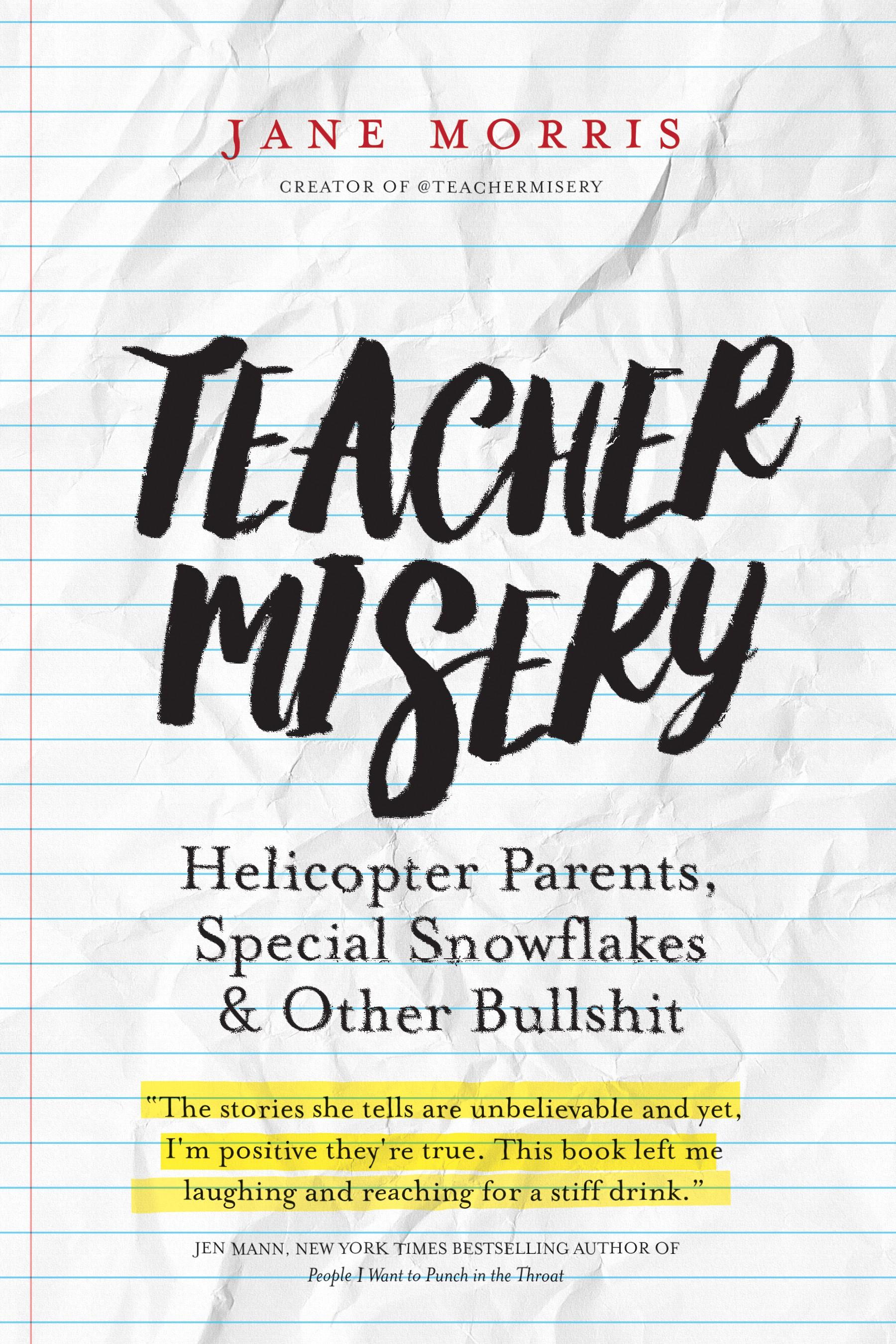 Stylish, creative, cool cover for Teacher Misery book