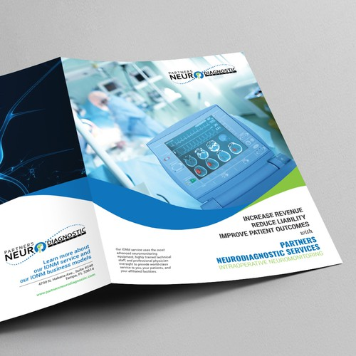 Brochure Design for PARTNERS NEURODIAGNOSTIC SERVICES