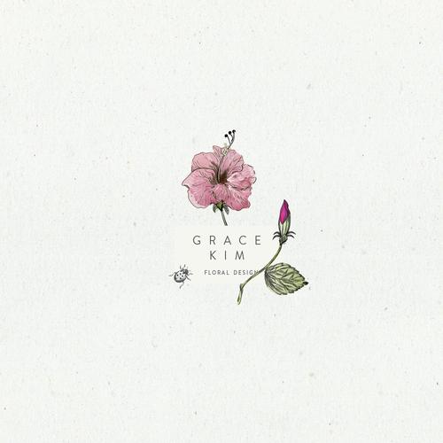 Logo concept for floral design brand