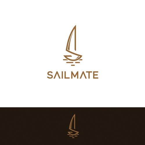 Minimalism and sophisticated logo for fashion sail bags.