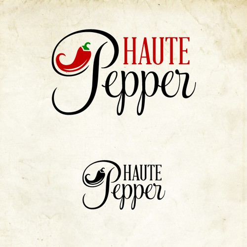 Logo for Haute Paper company and blog with recipe and food marketing consulting