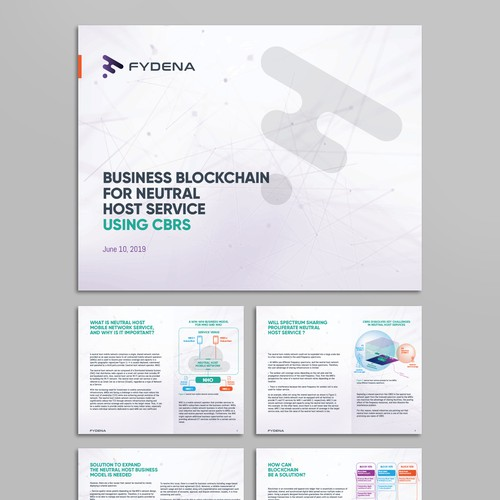 Infographic multipage brochure for Fydena
