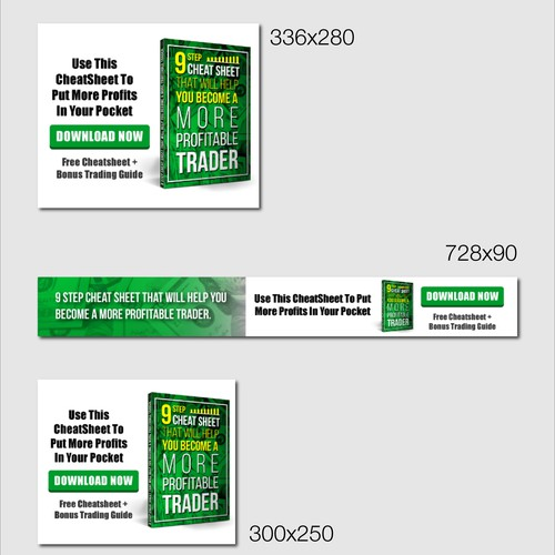 Banner Ads for a Marketing Landing page