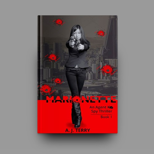 "Book Cover for ""Marionette"" - Spy Thriller"