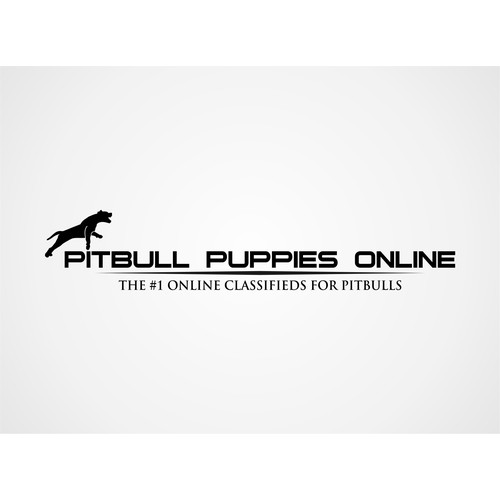 Pictorial logo concept for PITBULL PUPPIES ONLINE