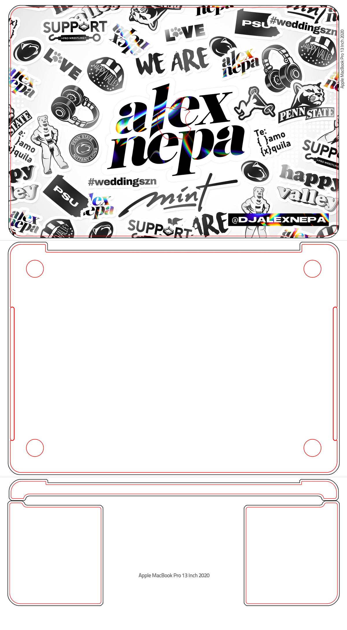 Modern Illustrated Laptop Skin/Sticker for DJ