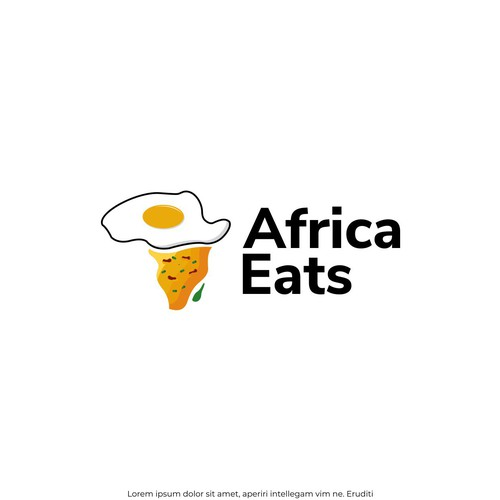 logo concept for africa eats