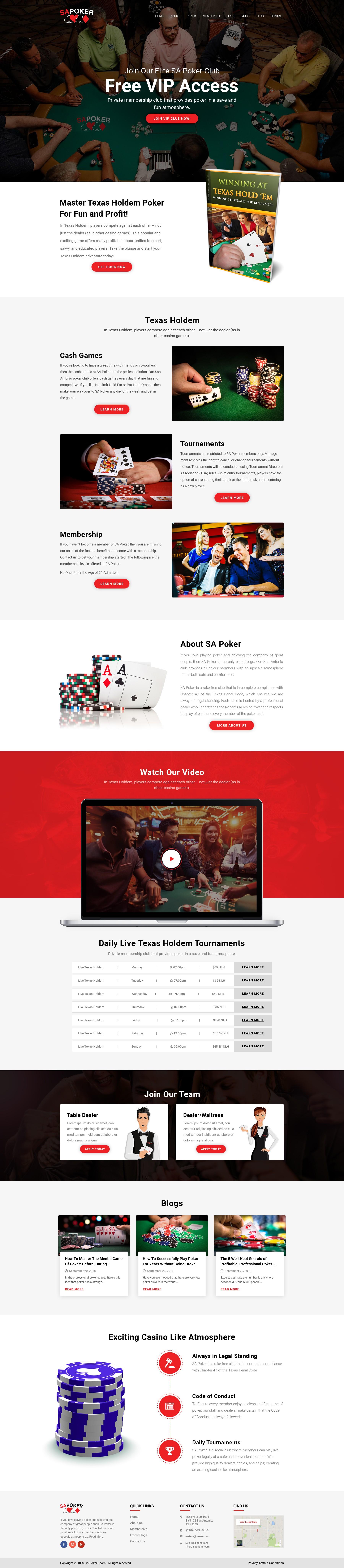 Texas Holdem Poker Website Re-Design